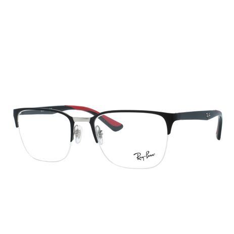 0bd15d76f74e7 Óculos de Grau Ray Ban Masculino Fio de Nylon RX6428 2997 - Acetato Preto