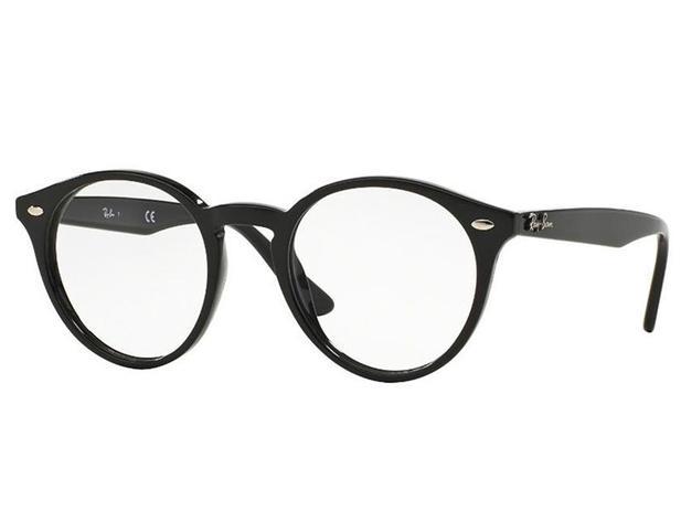 5c58ff6d6 Óculos De Grau Ray Ban Redondo Preto RB2180 2000 Tam.49 - Ray ban original