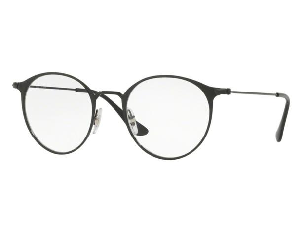 cba15d743 Óculos De Grau Ray Ban Redondo Preto RB6378 2904 Tam. 49 - Ray ban original