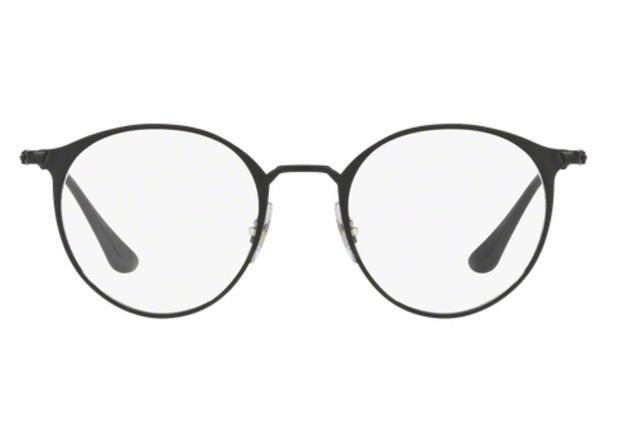 6d881e32e4772 Óculos de Grau Ray Ban Round Metal RX6378 2904 Preto Lente Tam 49 - Ray-ban