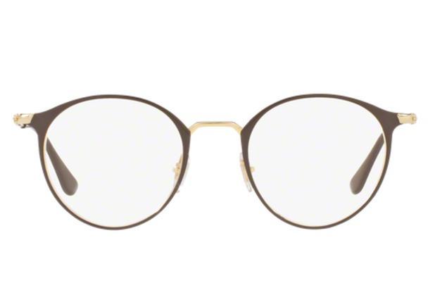 a297e8694a586 Óculos de Grau Ray Ban Round Metal RX6378 2905 Marrom Lente Tam 49 - Ray-ban