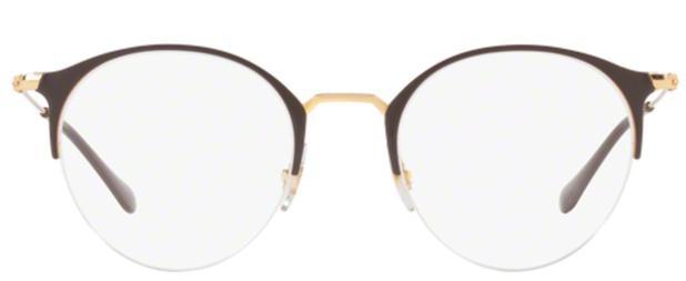 87aa2a14f Óculos de Grau Ray Ban Round RX3578 Marrom Ouro - Ray-ban - Óculos ...