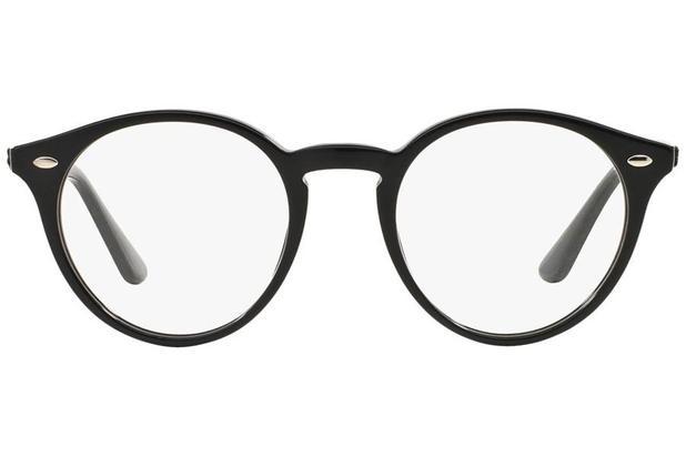 287eb7b00 Óculos de Grau Ray Ban RX2180V 2000/49 Preto Brilhante - Óculos de ...