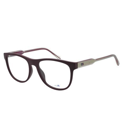 bde3d13bb16ef7 Óculos de Grau Tommy Hilfiger Masculino TH1441 - Acetato Bordô