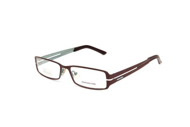 b85bcb2d9a1c7 Óculos De Grau Unissex Diesel Metal Marrom - Óculos de grau ...