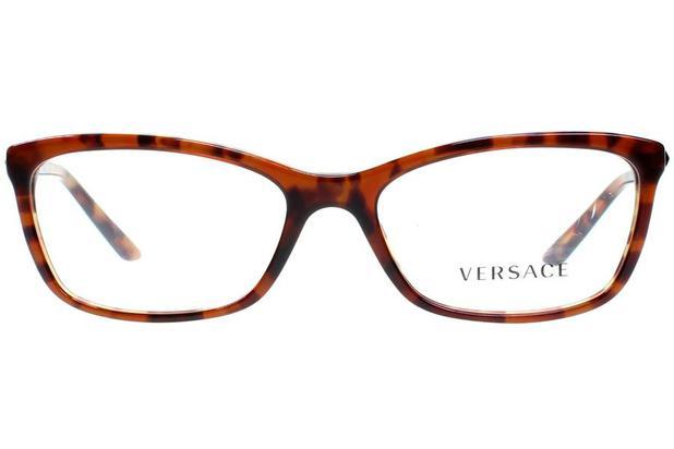 21d0e2dc2 Óculos de Grau Versace VE3186 5077/54 Tartaruga Ambar/Tartaruga ...