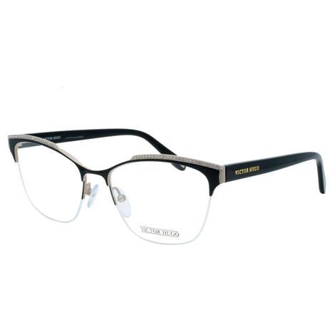 6c02986d77423 Óculos de Grau Victor Hugo Feminino com Fio de Nylon VH1262S SA8M - Metal e Acetato  Preto