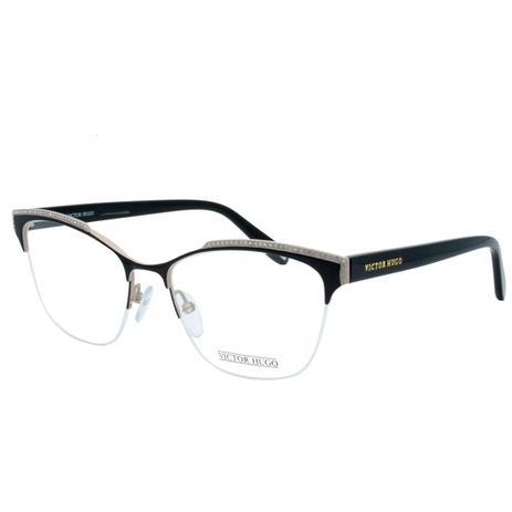 2538b20fc84b7 Óculos de Grau Victor Hugo Feminino com Fio de Nylon VH1262S SA8M - Metal e  Acetato Preto