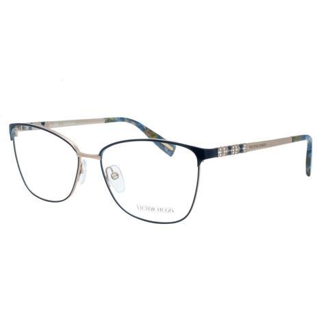 7031e91cd Óculos de Grau Victor Hugo Feminino VH1263S 0E59 - Metal Azul e Bronze