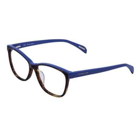 cd6ef56a46685 Óculos de Grau Victor Hugo Feminino VH1733 COL.0752 - Acetato Azul e Tartaruga  Marrom