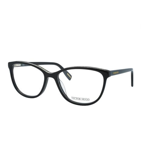 0395aec081598 Óculos de Grau Victor Hugo Feminino VH1769 0700 - Acetato Preto ...