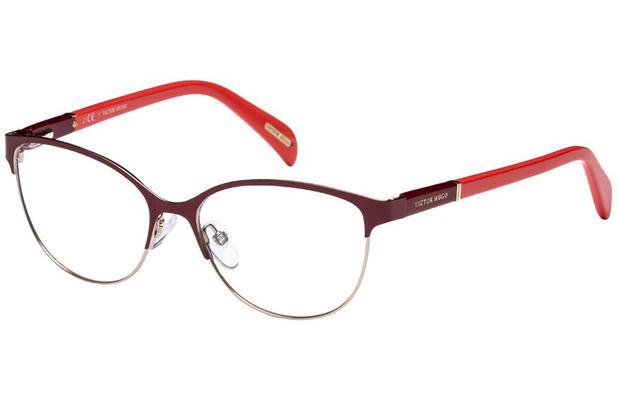 304b6836fc28e Óculos de Grau Victor Hugo VH1250 0H60 53 Bordô Vermelho - Óptica ...