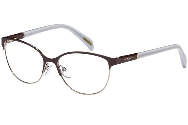 b219a997979d2 Óculos de Grau Victor Hugo VH1250 0SHE 53 Marrom Branco - Óptica ...