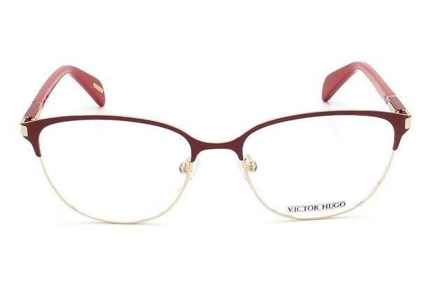Óculos de Grau Victor Hugo VH1257 0357 53 Vermelho Dourado - Óptica ... d5e6d4cf92