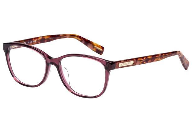 2eded584a8d3c Óculos de Grau Victor Hugo VH1752 06M4 53 Vinho Transparente Mesclado