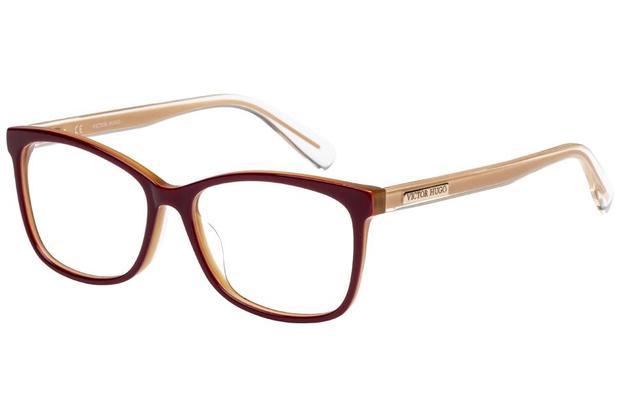 242a2550ff8d8 Óculos de Grau Victor Hugo VH1766 09CG 53 Bordô Bege - Óptica ...