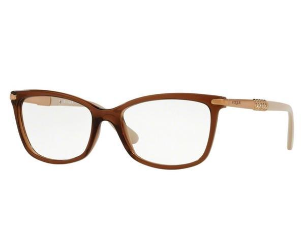 edce4285d6911 Óculos de Grau Vogue Feminino Marrom VO5125L 2591 Tam.53 - Vogue original