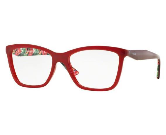 Óculos de Grau Vogue Feminino Vermelho VO5018L 2340 Tam.52 - Vogue original d645fed3cd