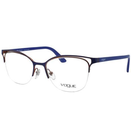 f38a6654896be Óculos de Grau Vogue Feminino VO4087L 5080 - Metal e Acetato Roxo - Óptica  - Magazine Luiza