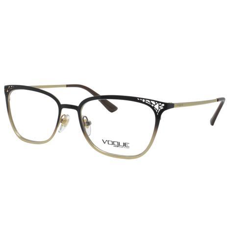 cccfe7c180d05 Óculos de Grau Vogue Feminino VO4103 997 - Metal Marrom e Dourado Degradê