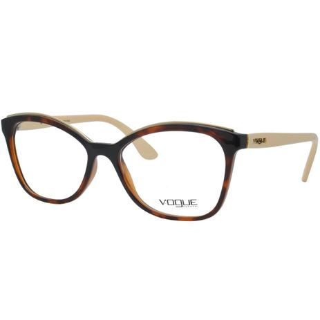 b36496aa6 Menor preço em Óculos de Grau Vogue Feminino VO5160L 2649 - Acetato  Tartaruga Marrom e Haste