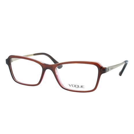 efa7dca0f Óculos de Grau Vogue Feminino VO5162L 2523 - Acetato Marrom - Óptica ...