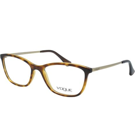 Óculos de Grau Vogue Feminino VO5219L W656 - Acetato Tartaruga Marrom e  Metal Dourado dfb9cfa9d3