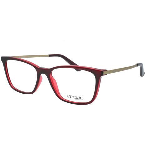 Óculos de Grau Vogue Feminino VO5224L 2636 - Acetato Bordô e Metal Dourado  - Óptica - Magazine Luiza 019650a383