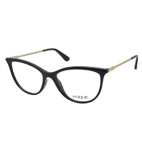 c0b1c4b43 Menor preço em Óculos de Grau Vogue Feminino VO5239L W44 - Acetato Preto e  Haste Metal