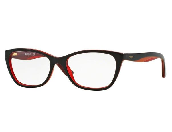 146f00ff82d66 Óculos de Grau Vogue Preto   Vermelho VO2961 2312 Tam.53 - Vogue original