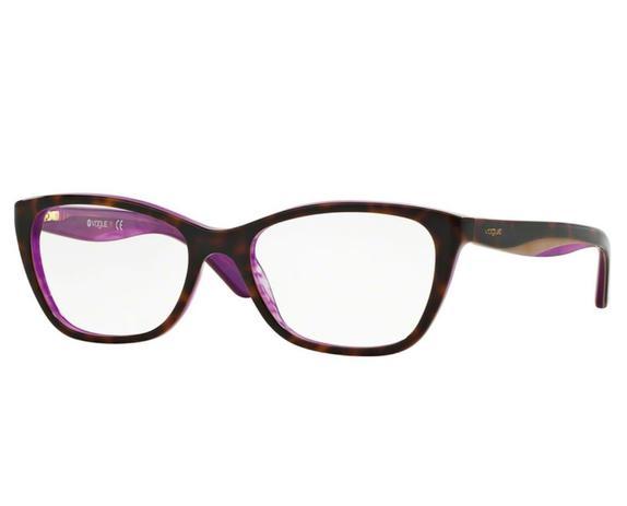 9a01c354ac36e Óculos de Grau Vogue Tortoise   Roxo VO2961 2019 Tam.53 - Vogue original
