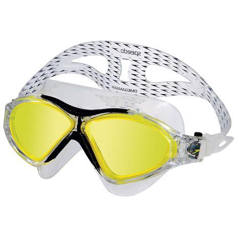 Óculos De Natação Omega Swim Mask Preto e Amarelo Speedo - Óculos de ... fc467c91d0