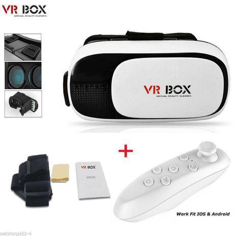 Imagem de Oculos de Realidade Virtual 3D + Controle Bluetooth - VR Box 038