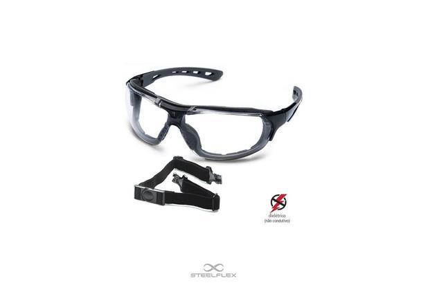 Imagem de Óculos De Segurança Epi Roma Dielétrico Ar/ae/uv - Steelflex