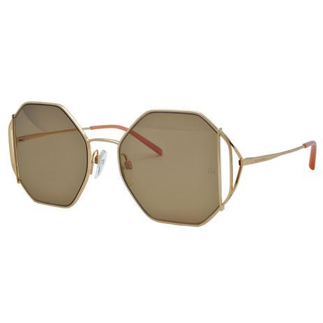 2a6a64fdc Óculos de Sol Ana Hickmann Feminino AH3185 04B - Metal Dourado e Lente  Marrom