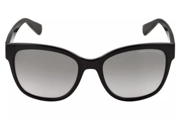 4446e3edb Menor preço em Óculos de Sol Armani Exchange AX4046SL 815811/55 Preto  Brilhante