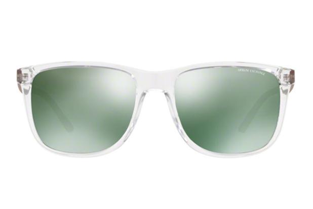 13b386c62f6be Óculos de Sol Armani Exchange AX4070SL 82356R 57 Cristal Transparente