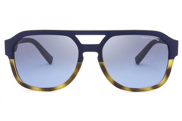 9c11ac37e Óculos de Sol Armani Exchange AX4074S 82468F/57 Havana Fosco/Azul Fosco