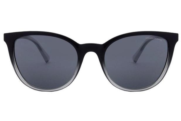 1032c7afa Óculos de Sol Armani Exchange AX4077S 82556G/55 Preto/Fumaça Transparente