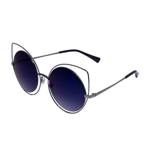 20b30f1bc Óculos de Sol Atitude Gatinha AT3181 - metal prata, lente azul  semi-espelhada