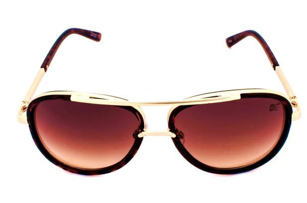 9805eab2a4049 Óculos de Sol Aviador Drop mE ICONE HAVANNA DEGRADE MARROM - Drop me  acessorios