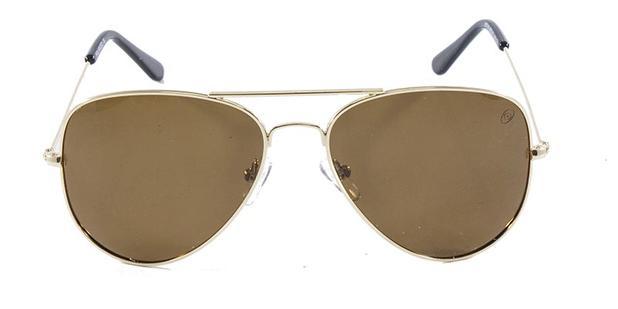 Óculos de Sol Aviador Einoh H0716 Ouro Lente Marrom Tam 56 - Óculos ... 8a58c702e3