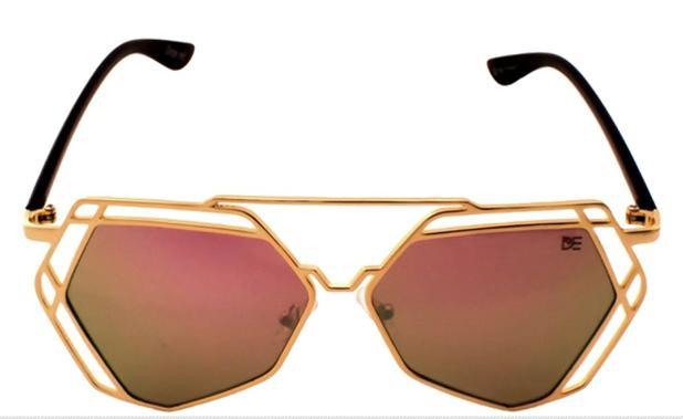 Oculos de sol aviador linhas retas drop me lente espelhada rose - Drop me  acessorios 2e00669c06