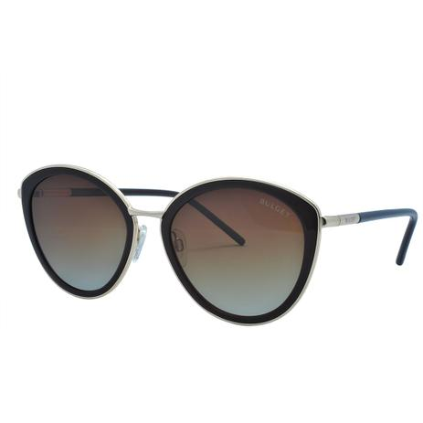 980c3d860 Óculos de Sol Bulget Feminino Polarizada BG5142 T04 - Acetato Preto e Metal  Dourado