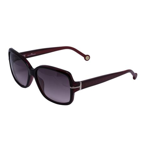 Óculos de Sol Carolina Herrera Feminino SHE574 - Acetato Bordô ... 1dedc925b8