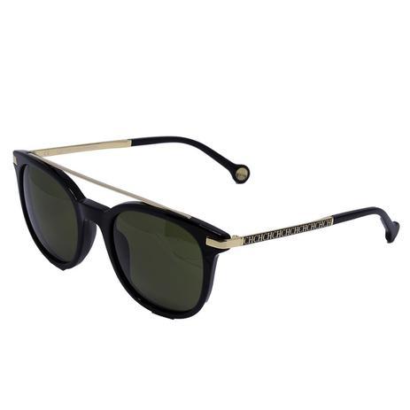0b13e7c5faf53 Óculos de Sol Carolina Herrera Feminino SHE690 - Acetato Preto e Lente G-15