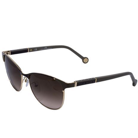 48292bc03e3b3 Óculos de Sol Carolina Herrera SHE089 - acetato metal marrom dourado ...