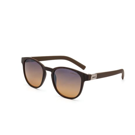 24d371562 Óculos de Sol Colcci BOWIE C0083 J51 21 Marrom Madeirado Lente Espelhada  Azul Degrade Laranja Tam 50