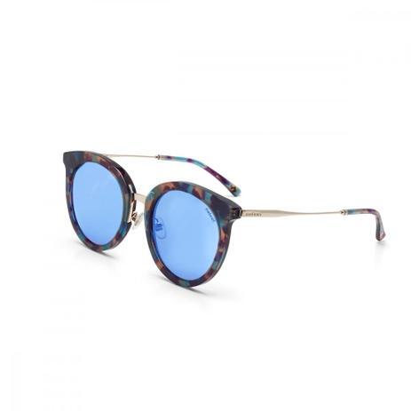 4cff3d2334254 Oculos De Sol Colcci C0075 Demi Azul Brilho Com Dourado Brilho L ...