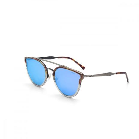 5299945336adc Oculos De Sol Colcci C0078 Demi Caramelo Brilho Acima E Fume Bril ...